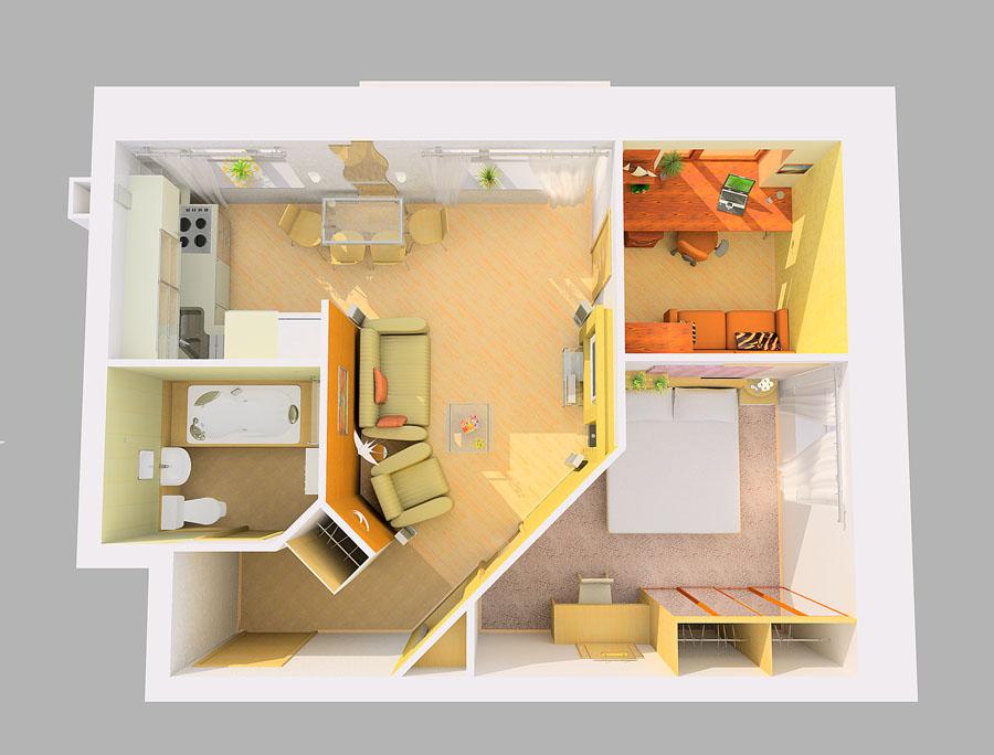 Фото дизайн проектов двухкомнатной квартиры